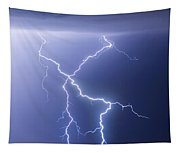X Lightning Bolt In The Sky Tapestry