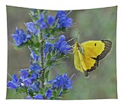 Yellow Cabbage Butterfly Tapestry