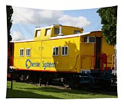 Yellow Caboose Tapestry