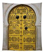 Yellow Door In Bardo Tapestry