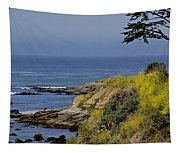 Yellow Flowers On The Central California Coast Tapestry