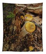 Yellow Mushrooms Tapestry