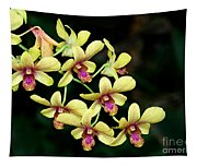 Yellow Orchid Cascade Tapestry