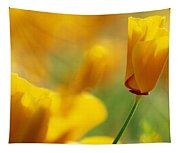 Yellow Poppy Tapestry