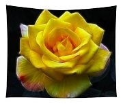 Yellow Rose In The Moonlight Tapestry