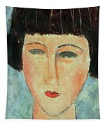 Young Brunette Tapestry by Modigliani