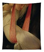 Young Girl On A Swing Tapestry