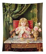 Young Girl With A Dove   Tapestry