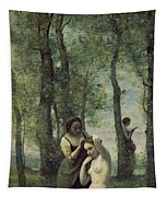 Young Woman At Her Toilet Tapestry