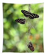 Zebra Butterflies Hanging Out Tapestry