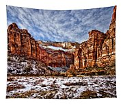 Zion Canyon In Utah Tapestry