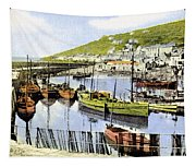 1900 Harbour View Mousehole Cornwall England Tapestry