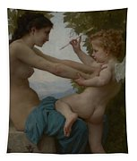 A Young Girl Defending Herself Against Eros Tapestry
