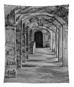 Archway At Moravian Pottery And Tile Works In Black And White Tapestry