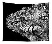 Black And White Iguana Art - One Cool Dude 2 - Sharon Cummings Tapestry