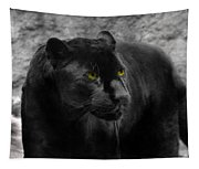 Black Leopard Tapestry