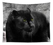 Black Leopard Tapestry
