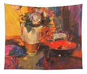 Clarice Cliff Rose Table  Tapestry