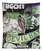 Devil Bat Movie Poster Horror Mosaic Tapestry
