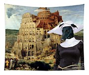 Galgo Espanol - Spanish Greyhound Art Canvas Print -the Tower Of Babel  Tapestry