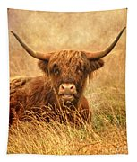 Happy Highlander Tapestry