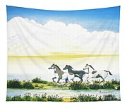 Indian Ponies Tapestry