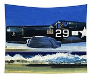 Into The Blue American War Planes Tapestry