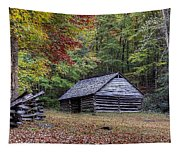 Jim Bales Place Barn Along Roaring Fork Motor Trail Tapestry