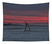 Red Sky In The Morning - Wildwood New Jersey Tapestry
