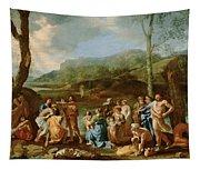 Saint John Baptizing In The River Jordan Tapestry