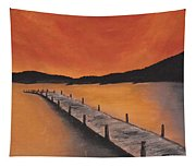 Sky On Fire Tapestry