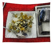 Table Settings At Time Of A Meal Tapestry