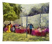 Tables At An Exhibition Tapestry