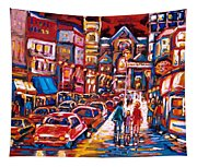 The Night Life On Crescent Street Tapestry