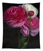 Three And A Half Blooms Tapestry