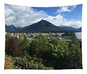 View From Top Of Castle Hill Sitka Alaska 2015 Tapestry