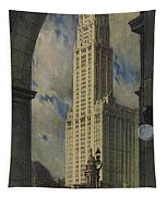 View Of The Woolworth Building Tapestry