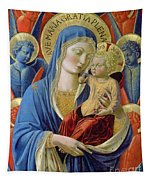 Virgin And Child With Angels Tapestry
