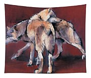 Wolf Composition Tapestry