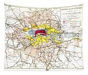 Map Of London, 1881 Tapestry