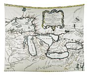 Great Lakes Map, 1755 Tapestry