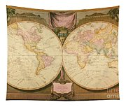 Captain Cook: Map, 1808 Tapestry
