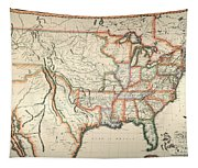 Map: United States, 1820 Tapestry