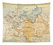 Austrian Empire Map, 1795 Tapestry