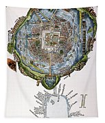 Tenochtitlan (mexico City) Tapestry