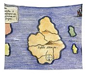 Map Of Atlantis, 1678 Tapestry