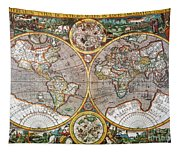World Map, 1607 Tapestry