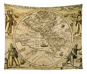 W. Hemisphere Map, 1596 Tapestry