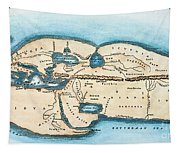Strabo World Map, C20 A.d Tapestry
