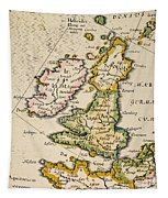 Map Of Great Britain, 1623 Tapestry